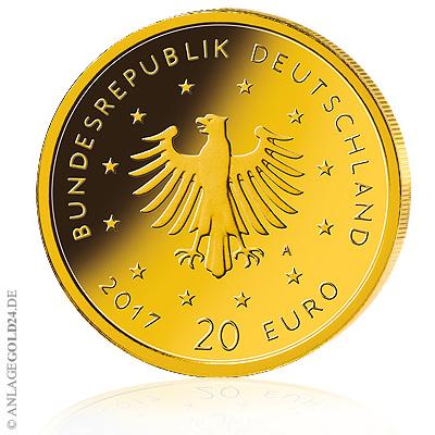 18 Oz Gold 20 Euro Heimische Vögel Pirol 2017 Prägebuchstabe A