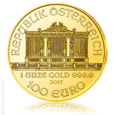 1 Oz Gold 100 Euro Wiener Philharmoniker 2017