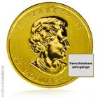 (Random year) 1 Oz gold Maple Leaf Canada  Back