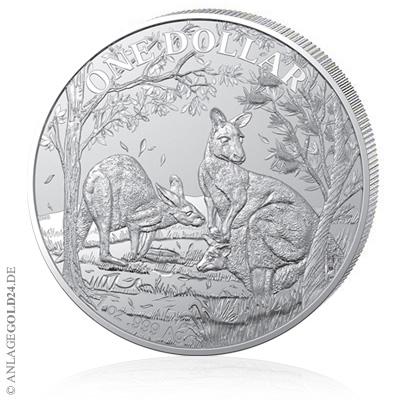 Känguru 2019 Silbermünze der Royal Australian Mint