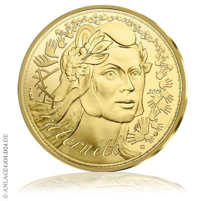 1000 euro gold frankreich marianne 2021