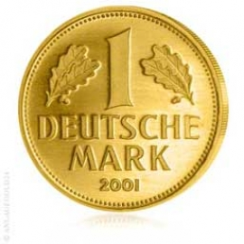 Anlagegold24 Deutsche Goldmark 2001 - Prägebuchstabe F