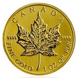 1 oz Gold, 50 Dollar Maple Leaf verschiedene Jahrgänge