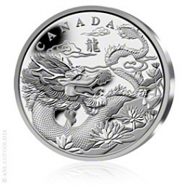 1 kg Silber 250 Can$ Year of the Dragon 2012 127700