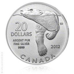 20 Canada Dollar Eisb�r - Polar Baer 2012 - Tauschaktion!