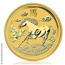 Anlagegold24 2 oz Gold Lunar II - Year Of The Horse 2014 - Pferd