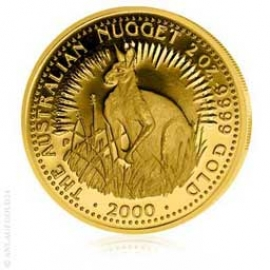 2 oz Gold, 200 Dollar Nugget / Känguruh verschiedene Jahrgänge 150975