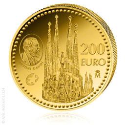 200 Gold Euro Architekt Antoni Gaudi - Spanien 2010