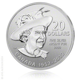 20 Canada Dollar Diamantenes Jubil�um der Queen 2012 - Tauschaktion