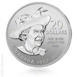 20 Canada Dollar Diamantenes Jubil�um der Queen 2012 - Tauschaktion