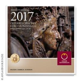 Anlagegold24 Österreich Euro-Münzensatz 2017 - Handgehoben