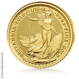 1/10 oz Gold, 10 Pounds Britannia 2018
