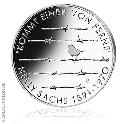 20 Euro Gedenkmünze 125 Geburtstag Nelly Sachs Spiegelglanz