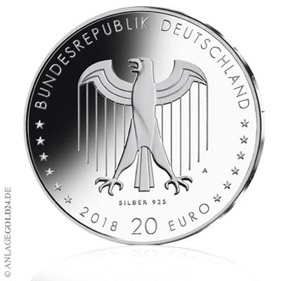 20 Euro Gedenkmünze 150 Geburtstag Peter Behrens 2018 Stempelglanz