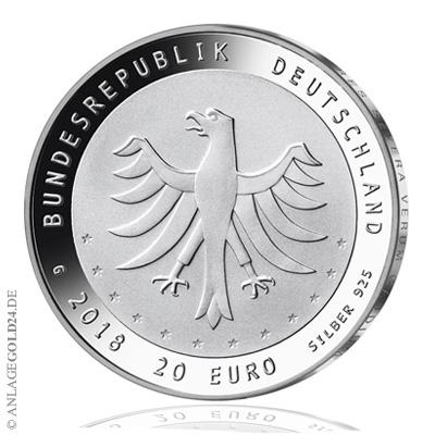 20 Euro Gedenkmünze 275 Jahre Gewandhausorchester 2018