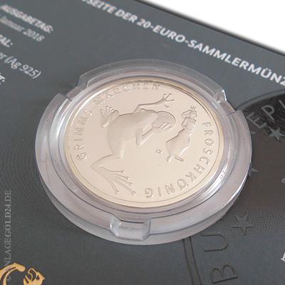20 Euro Gedenkmünze Froschkönig 2018 Spiegelglanz