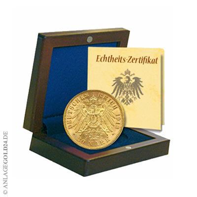 20 Goldmark Freie Und Hansestadt Hamburg 1913 Jaeger 212 Prägefrisch