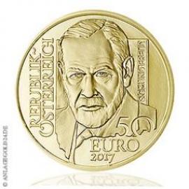 50 Euro Gold Sigmund Freud- Österreich 2017 PP