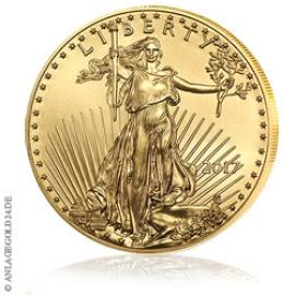 1 oz Gold, 50 Dollar Eagle 2017