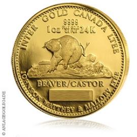 1 oz Gold Biber Kanada