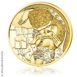50 Euro Gold Klimt und seine Frauen - Der Kuss - Österreich 2016 PP