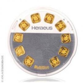 10x 1g Goldbarren Multidisc Heraeus