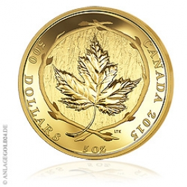 5 oz Gold, 500 Dollar Maple Leaf 2015 - PP 228960