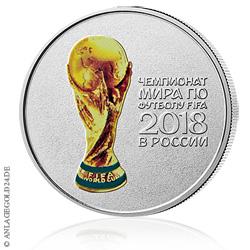 25 Rubel Russland 2018 Fifa Fussball Wm Pokal Coloriert