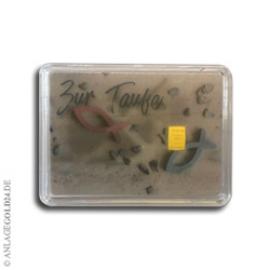 1 Gramm Goldbarren Taufe