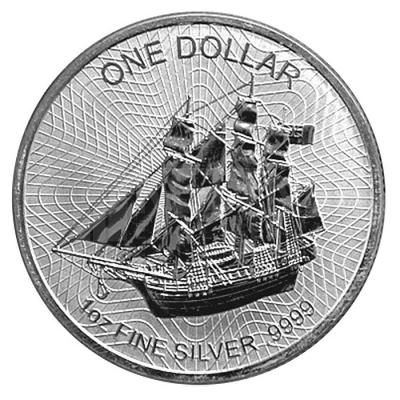 1 Oz Cook Islands Bounty Schiff Segelschiff 2018