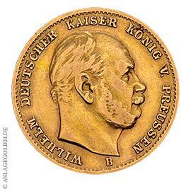 10 Mark Preussen Wilhelm I. 1872 A Jaeger 242
