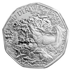 5 Euro Silbermünze Österreich 2011 - &quotLand der Wälder