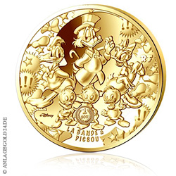 500 Euro 5 Oz Gold Disney 2017 Dagobert Pp