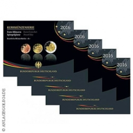 Kursmünzensatz Deutschland 2016 Komplettsatz A-J PP