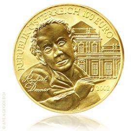 100 Euro Gold Bildhauerei Österreich 2002 PP