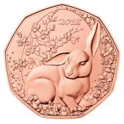 5 Euro Kupfer Der Osterhase österreich 2018