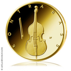 50 Euro Goldmünze Musikinstrumente Kontrabass 2018
