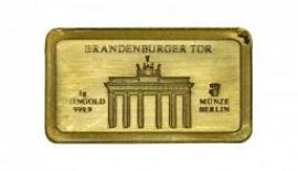 """1 Gramm Goldbarren """"Brandenburger Tor"""""""