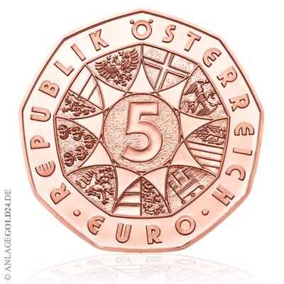 5 Euro Kupfer Neujahrsmünze österreich 2019