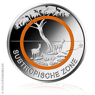 5 Euro Sammlermünze Subtropische Zone Pp Komplettsatz Adfgj