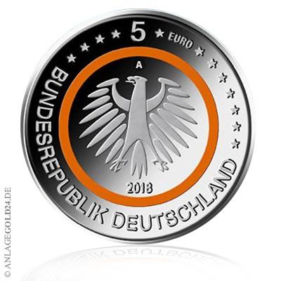 5 Euro Sammlermünze Subtropische Zone Komplettsatz Adfgj