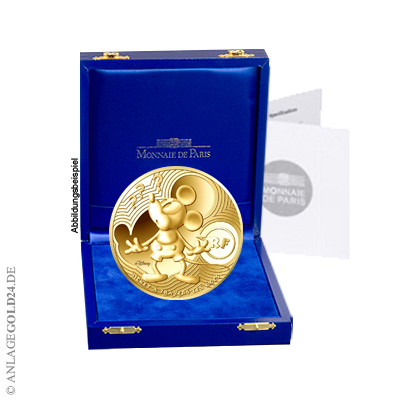 5 Oz 500 Euro Gold Disney Mickey Mouse 2016 Pp