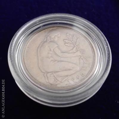 50 Pfennig Bdl 1950 Prägebuchstabe G Stempelglanz