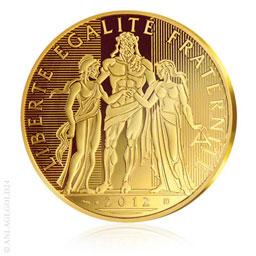 5000 Euro Frankreich Hercules Gold 2012
