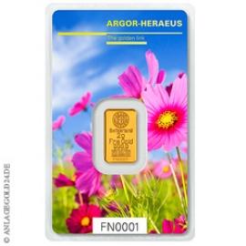 Anlagegold24 2 Gramm Goldbarren Following Nature