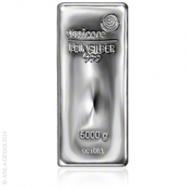 5.000 Gramm Silberbarren