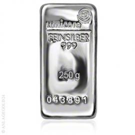 250 Gramm Silberbarren