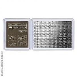 100 x 1 Gramm Silber Tafelbarren