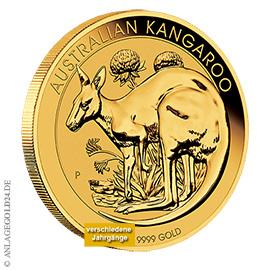 1 oz Gold, 100 Dollar Nugget / Känguru verschiedene Jahrgänge