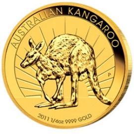 1/4 oz Gold, 25 Dollar Nugget / Känguru verschiedene Jahrgänge